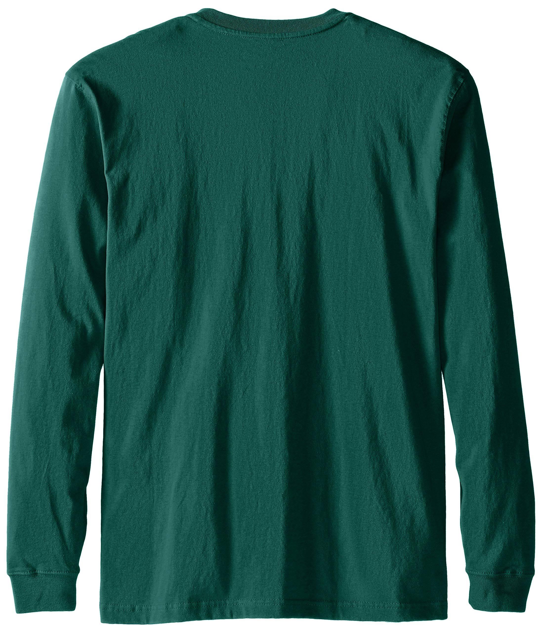 Carhartt K128 Green Workwear Tall Manga Bolsillo Henley De Larga Xl rPr0BFn
