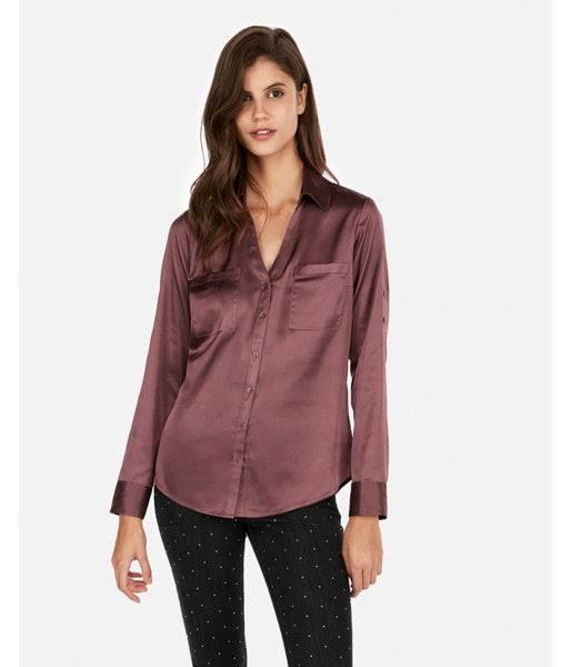 Xs Fit Camisa Slim Marrón Mujer Portofino T1g0qwv