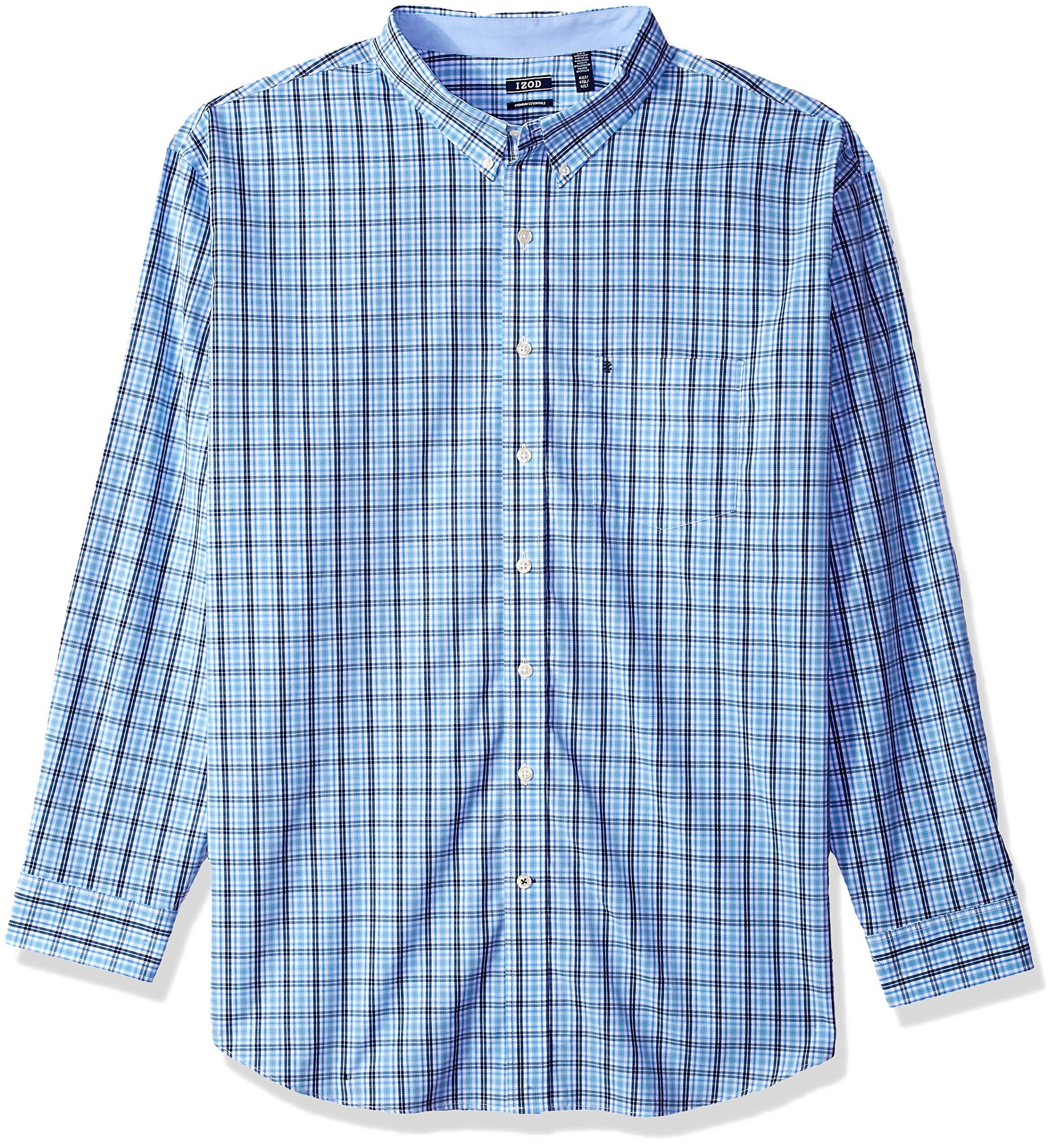 By Ltl Mit Izod Blue Lt Essentials Big Langarmhemd Tall Herren Knopfleiste Premium amp; Stretch wqF8fPvwB