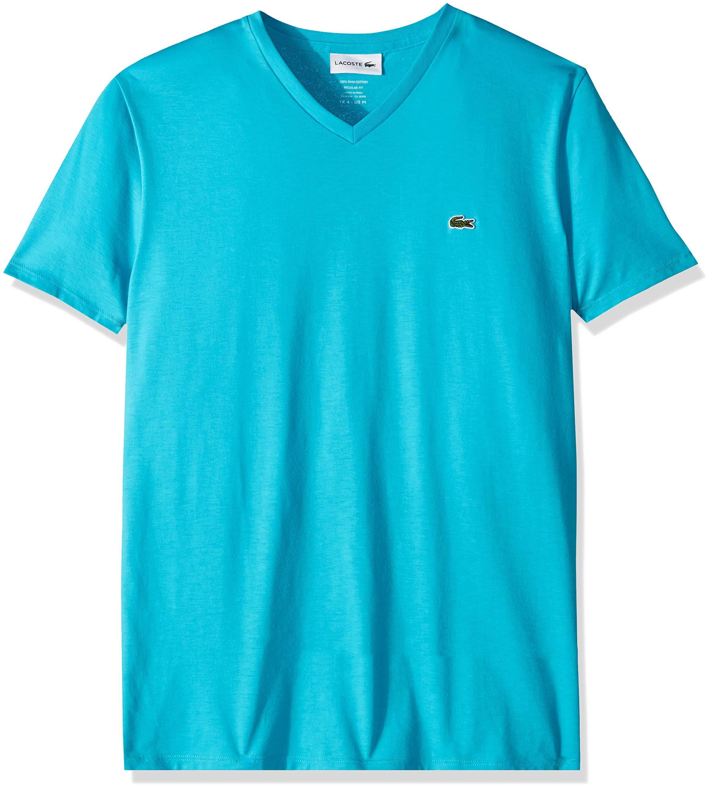 Jersey T shirt Herren Lacoste V ausschnitt Pima Kurzarm wnvUFTq7