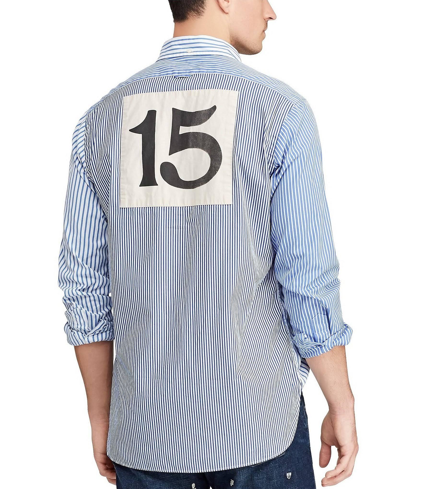 Camisa Hombre Ralph Clásico Polo Para L Corte De Fun Lauren Popelina qZSx8EwS