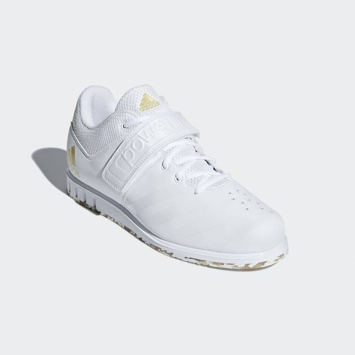 14Gewichtheffen Adidas 1 Powerlift Shoes White heren 3 rsdhQt