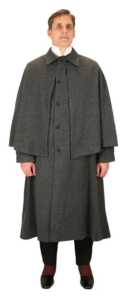 Longitud Espiga Coat Xl Hombre Tweed Emporium Herringbone Capa tamaño Inverness Pro Esmoquin Punta Grey Histórico Cuello 2x De Formal Sólido Tobillo Wedding wETz6qBx