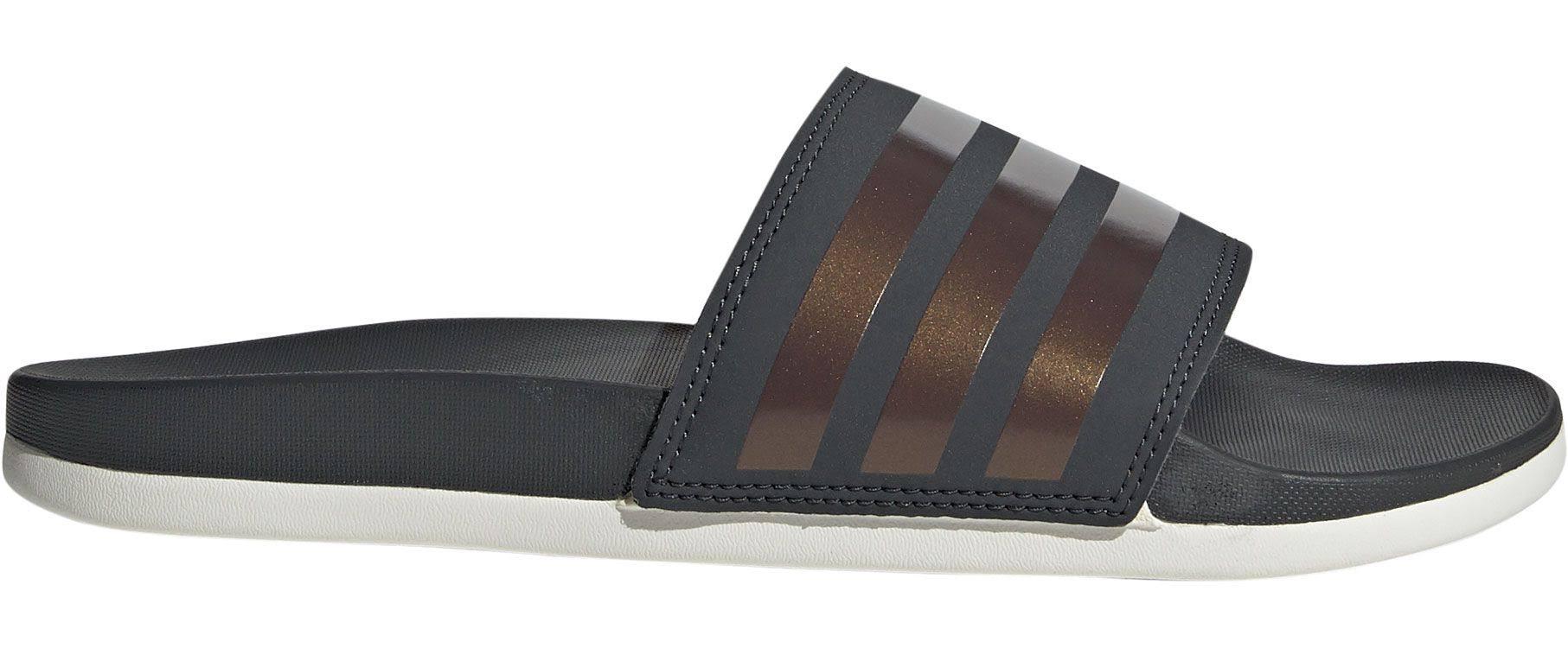 Sandales Adilette Foncé Gris Slide Femmes Adidas Taille Comfort 7 RAXSqw