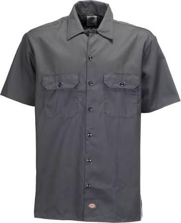 X 1574 Manga De Botón Dickies large Regular Camisa Trabajo Corta w0PqnYt