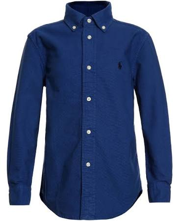 Blaues Von Gefärbtes Lauren Ralph Oxford hemd wxwUqaP