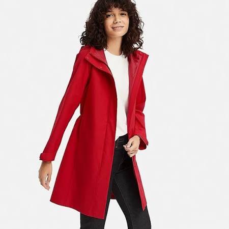 S Uniqlo Mujer Para Abrigo Rojo Blocktech aqBHwTx8