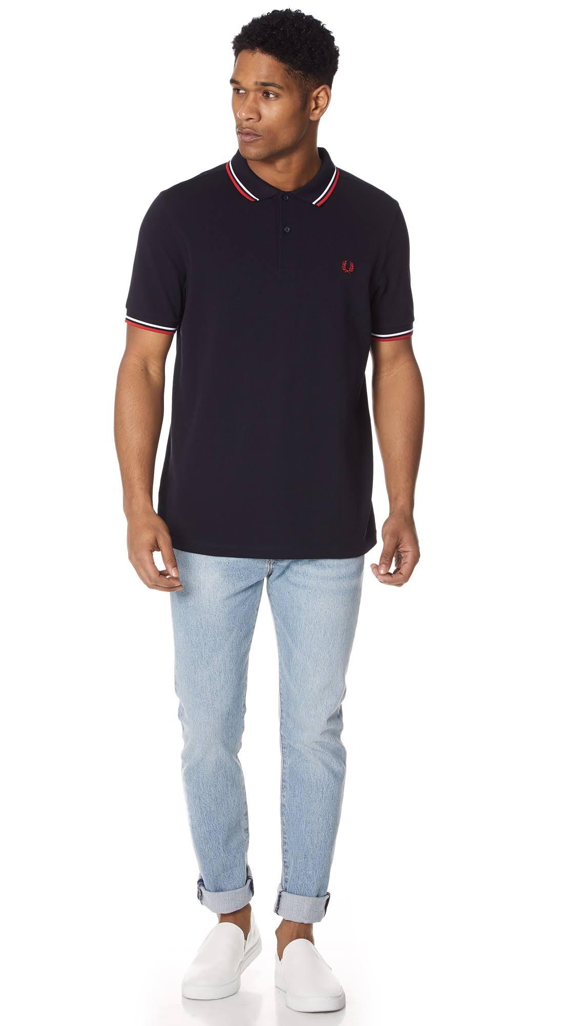 Gekippten Zwei Poloshirt Fred Spitzen N Mit Perry W M3600 R Mod W14WwRYXq