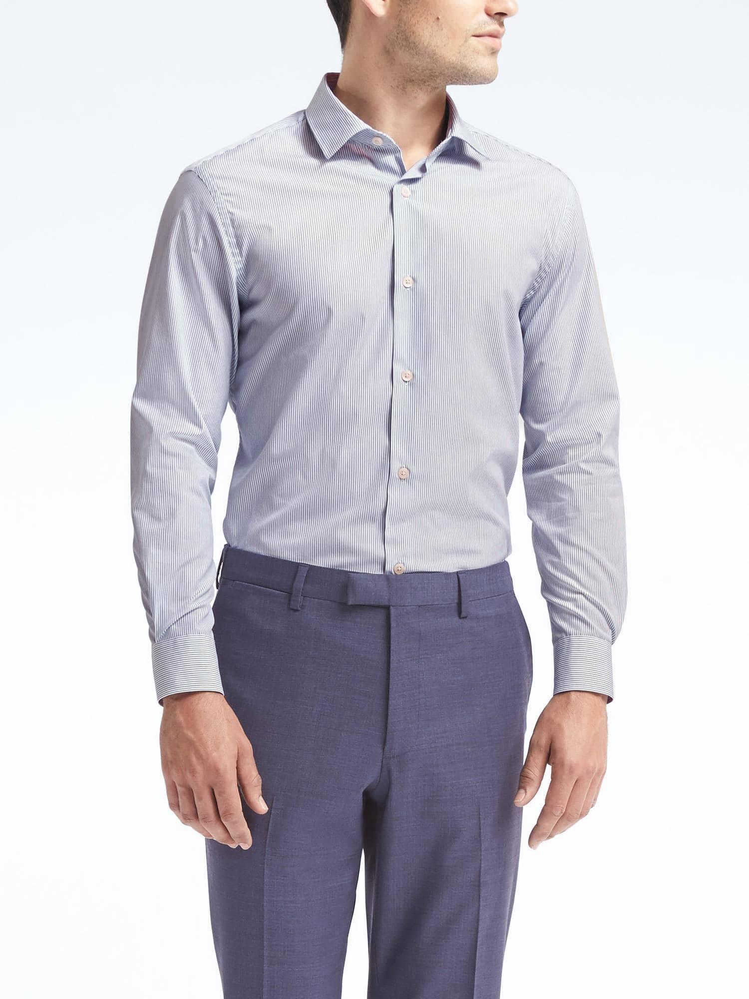 Corte Hierro De Republic Camisa Para Sin Blanca L Vestir Grant Slim Hombres Talla Banana wX8qxX