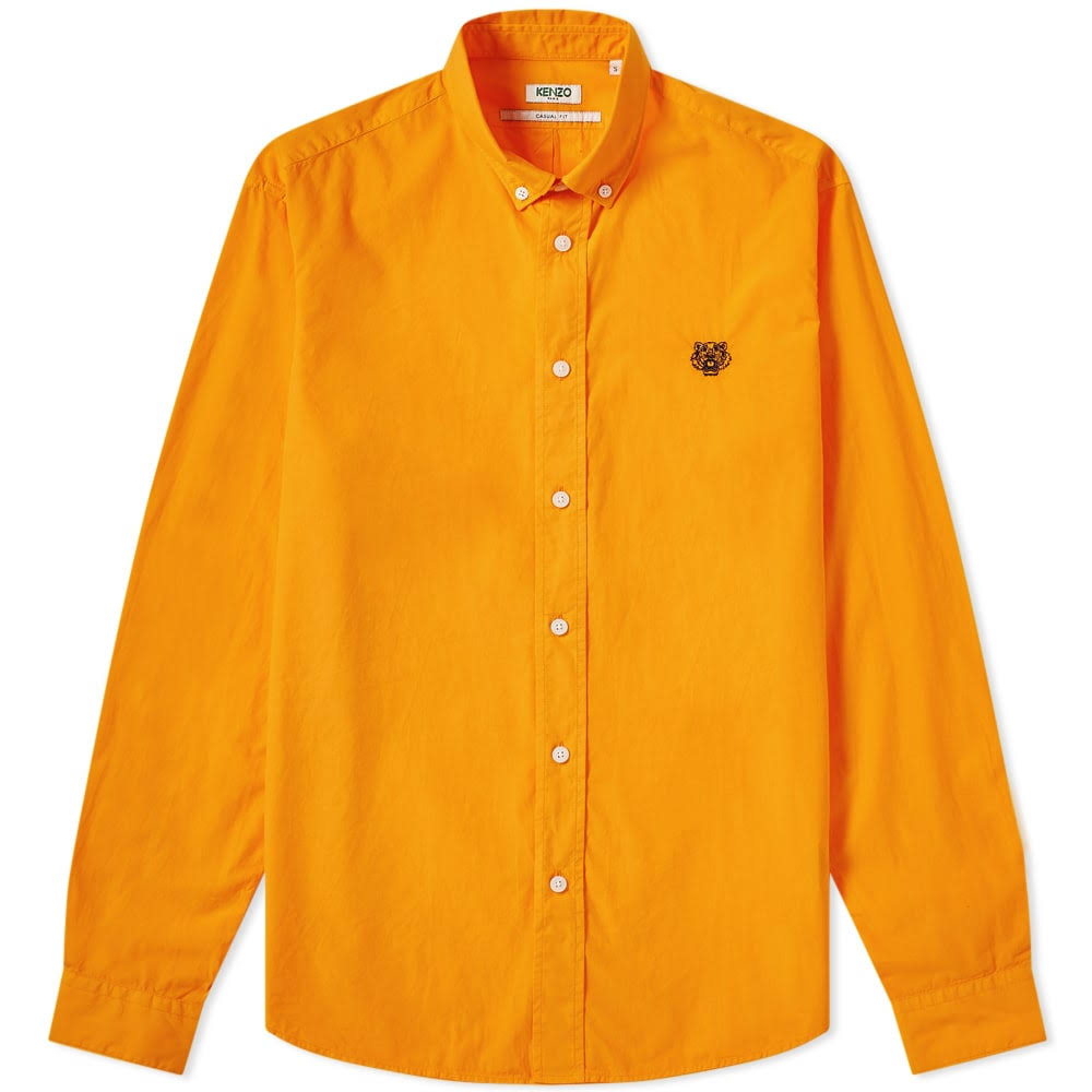 Tiger Mediana Button Camisa Down Naranja Popelina Kenzo wE0CXq