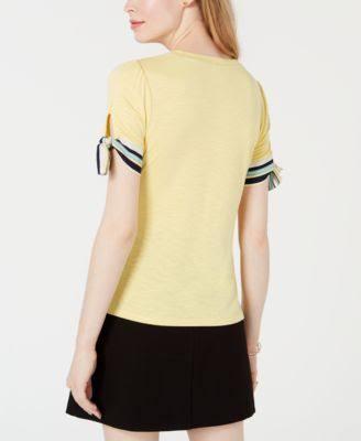 Für Maison Macy's Krawatten Oberteil Yellow Und Jules Ärmeln M Mit aqrpaY