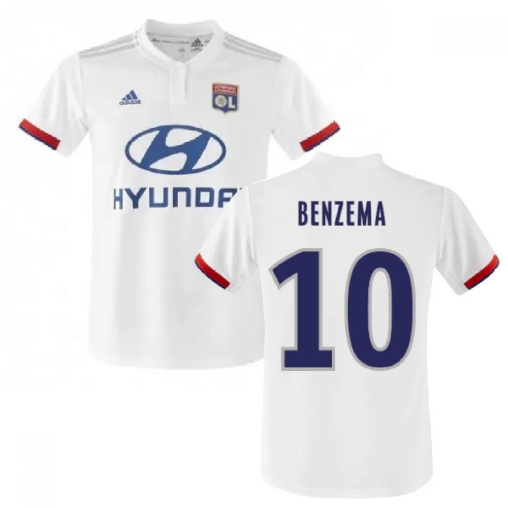 2019-2020 Olympique Lyon Adidas Home Football Shirt (BENZEMA 10)