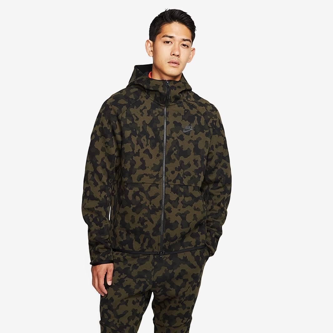 Nike Tech Fleece Jacket Medium Olive