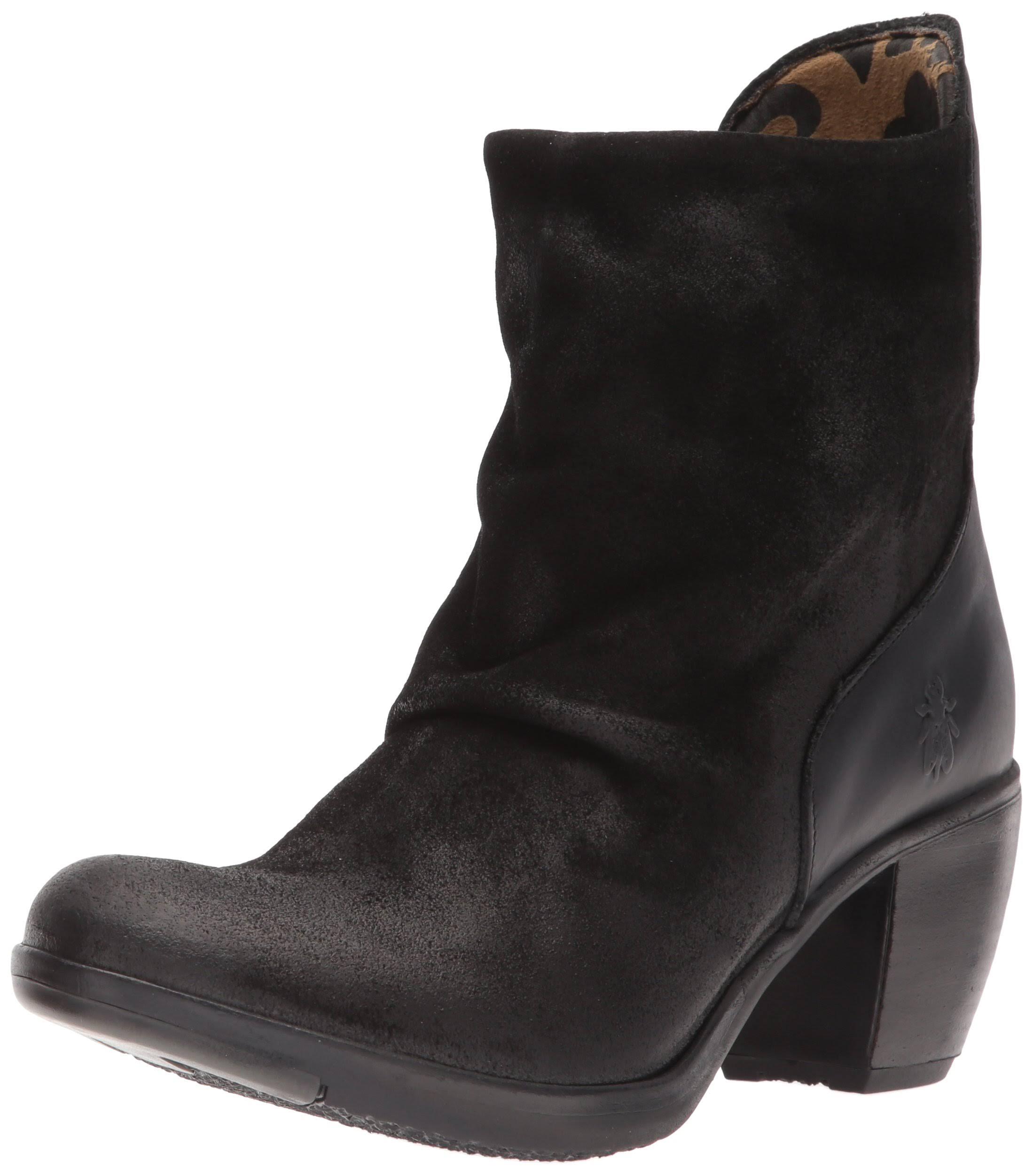 Fly Hota125fly London Black Boot Heeled Womens rprqw