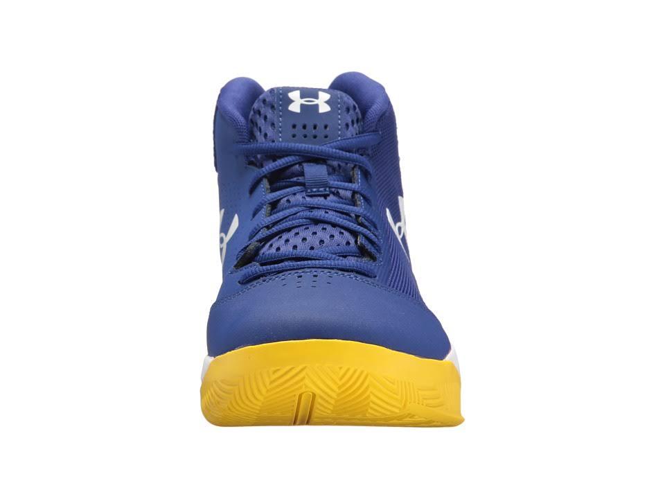 Under Basketballschuh Jet Blau 3020224 Größe 8 Mid Weiß Gelb Armor 5 Herren wIgqIr