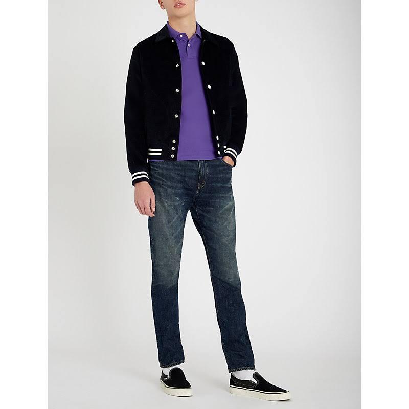 Piqué Purple fit Y Algodón Slim Lauren Camisa Logo Con De Ralph Cabana Bordada Polo 8wOqIn