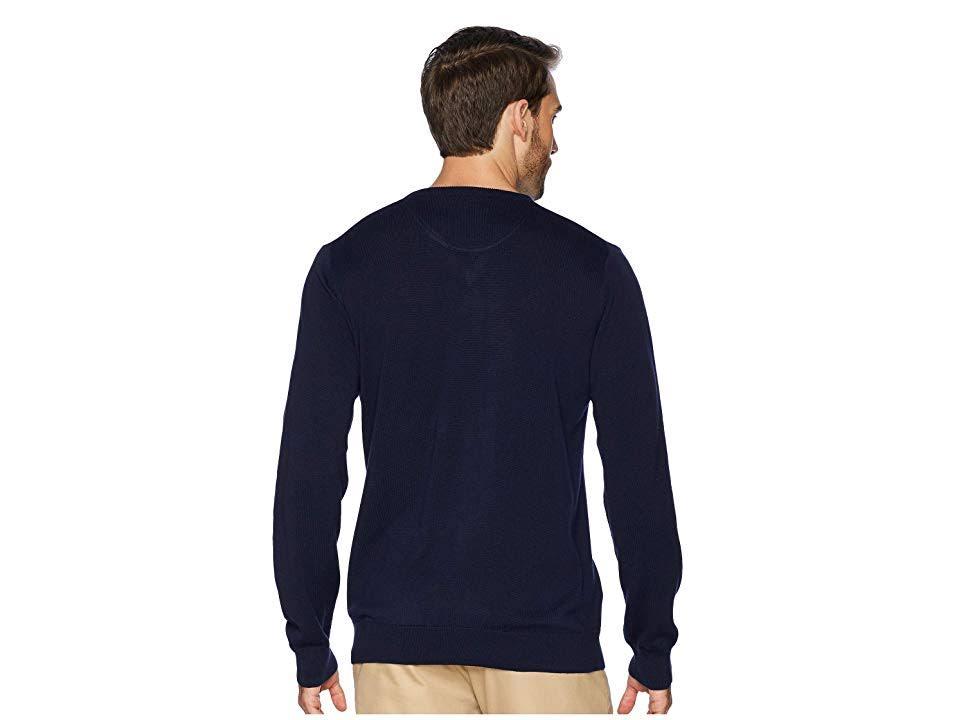 Marineblau Aus Jersey Mit Langarm V Lacoste ausschnitt Mehl pulli Männer Für Dunkelblau TFXwpRqPRx