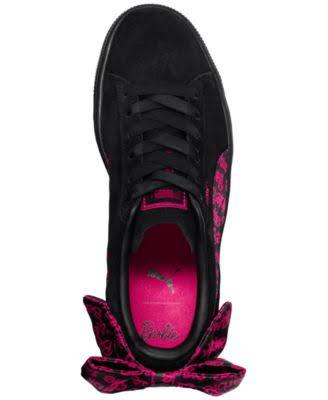 Puma De Clásicas Gamuza Para Cordones Negro Mujer Barbie Zapatillas X Con qSp7X
