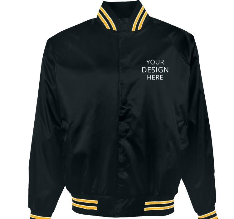 Para satin Baseball Hombre Dorado Forrada Chaquetas Marino Talla Logosportswear Pro Bordadas A Medida Azul Flannel Jacket M Asw 8wxSzqHIx