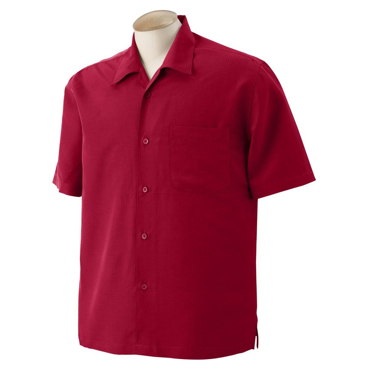 Red Herren Shirt Camp M560 Harriton Barbados Textured Parrot TqS1y0x