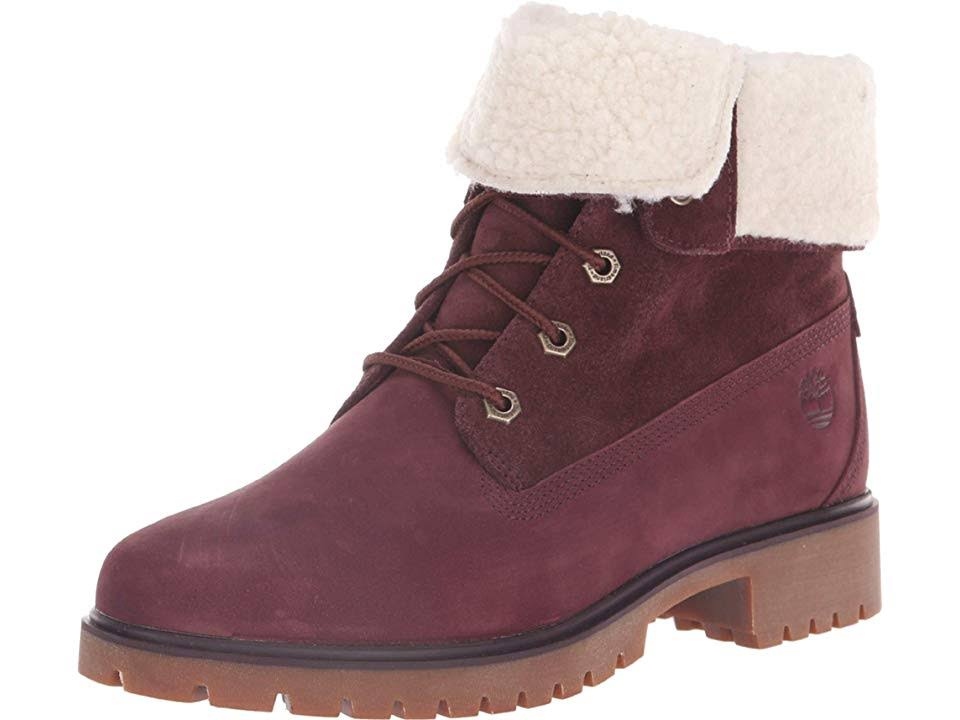 7 Timberland Leather Jayne Purple Us Women's waterproof Boot WqAHxn76q