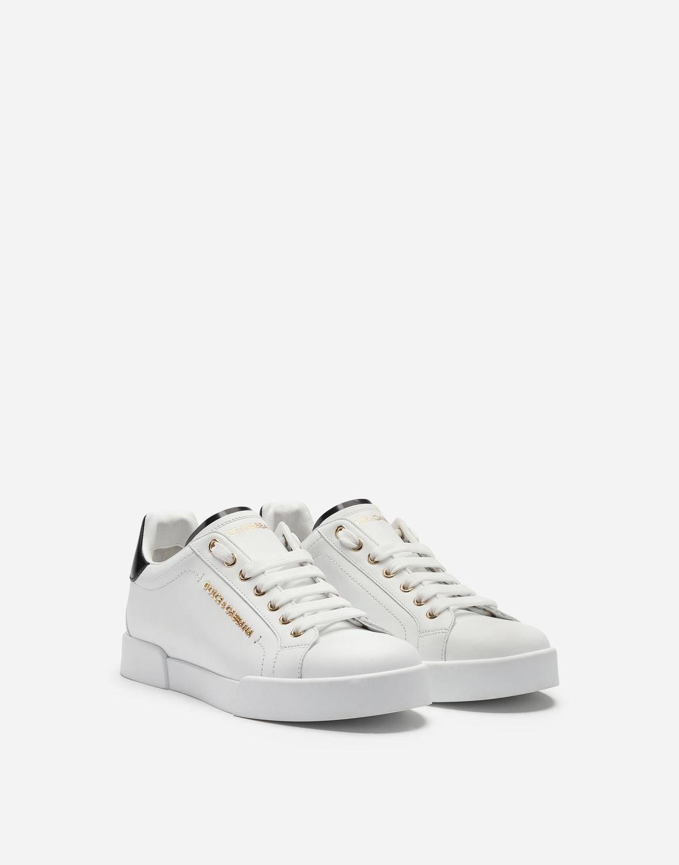 amp; Mujeres Gabbana De Con Zapatillas Adornos Dolce Deporte 5 Blanco Cuero 5 Nosotros Agd1qOSAw