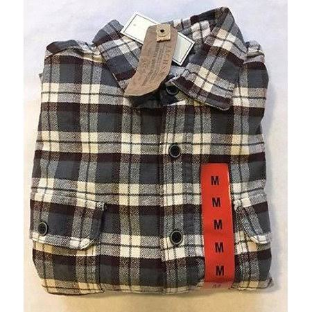 Cream Rust Brawny Franela Hombre Grey Jachs Para Camisa De Xl z0Hxaq44Zw