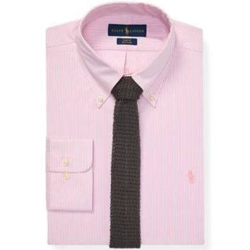 Rosa Lauren Blanco Camisa Rayas Fit Slim 14 Ralph Oxford Tamaño 5 De En FdqPU7w