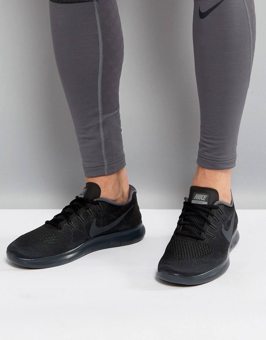 2017NeroAntracite Rn Scuro Scarpa Free Running Nike Freddo Da Grigio HIWED29Y