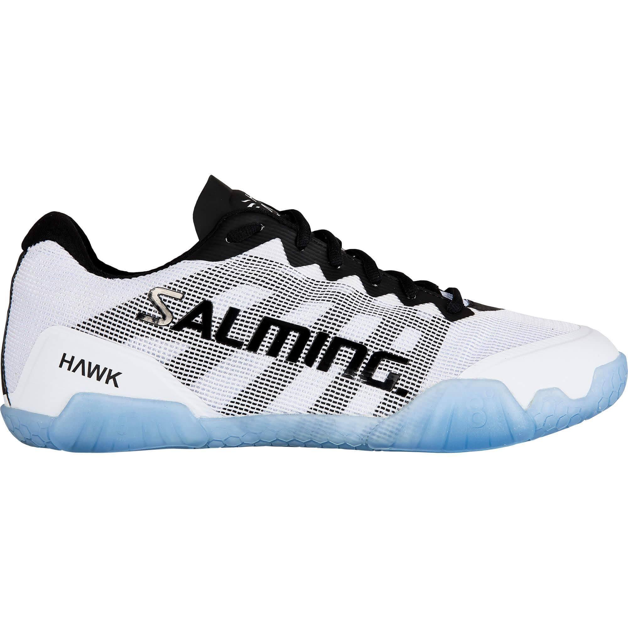 Salming Mens Hawk Indoor Court Shoes - White/Black