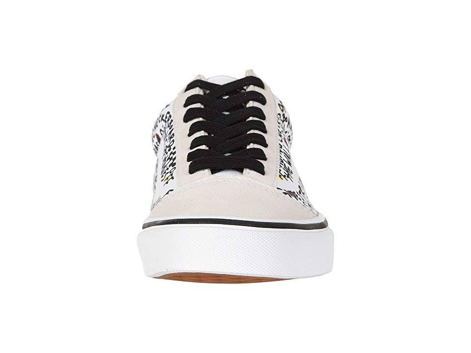 Blanco 6 8 Skool Vans Hombres Verdadero Mediana Negro Old 5 Mujer Ua bricolaje Shoes zq07nq