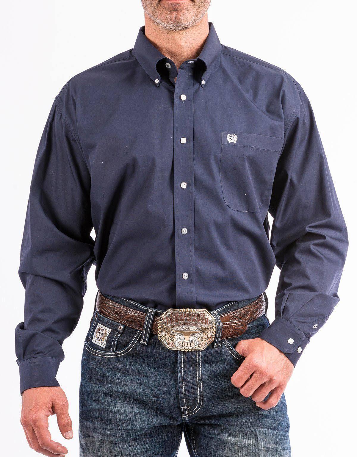 Hombre Para Abotonada Cinch Camisa Mtw104667x Western Azul Grande xa8qWIw