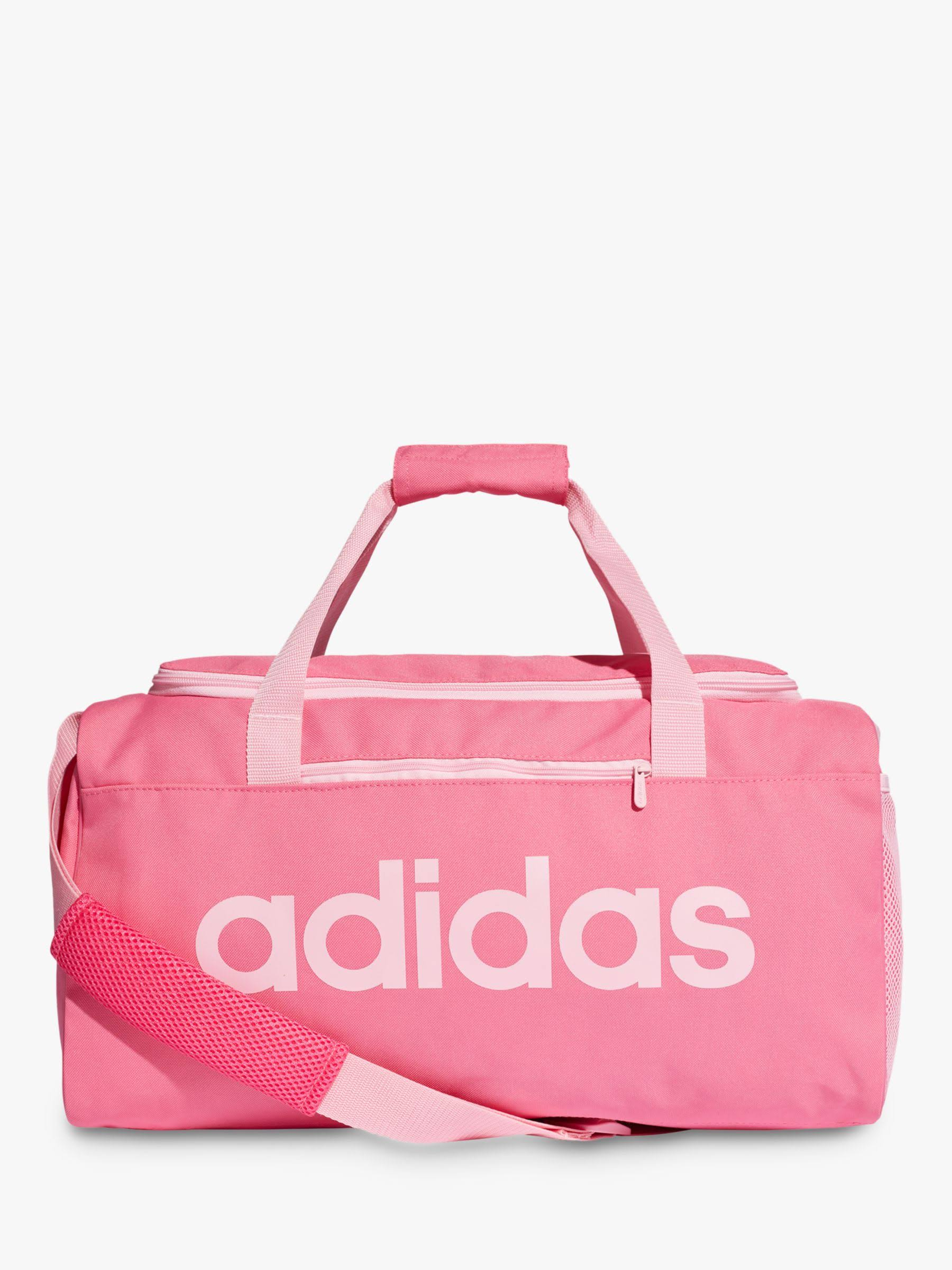 Adidas Pink Linear Core Duffel Bag Small - Pink