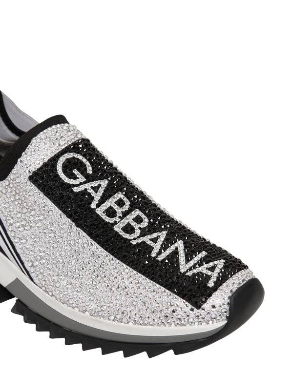 Dolce & Gabbana Zapatillas - ZAPATILLAS SORRENTO CON CRISTALES TERMOSTRASS BLANCO