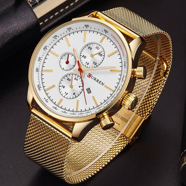 CURREN 8227 hombres de negocios Reloj de Lujo deporte Metal Reloj de Pulsera de Cuarzo