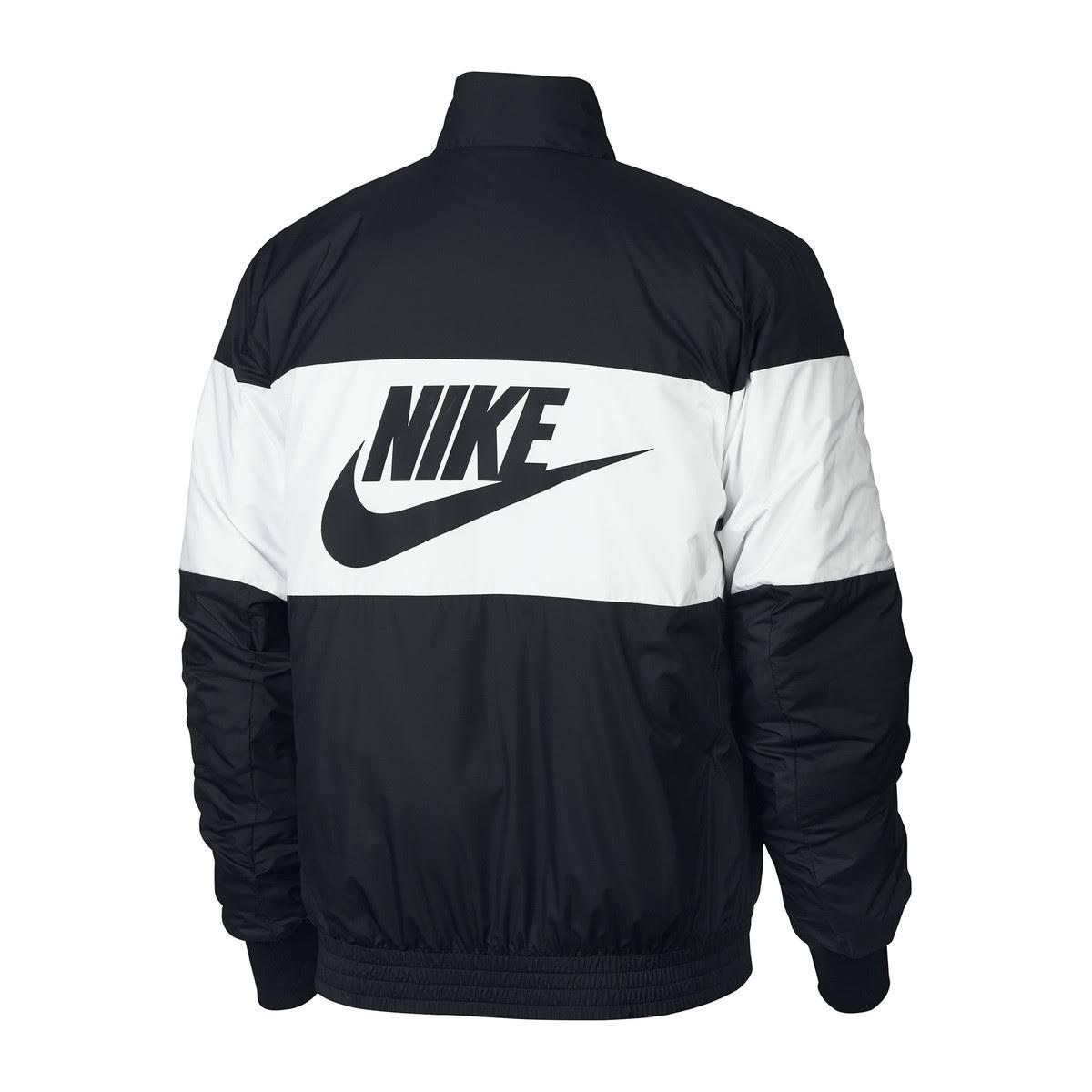 Giacca il Nike stile Aviatorcon cernieramotivo dietro nero K1TFJcl3