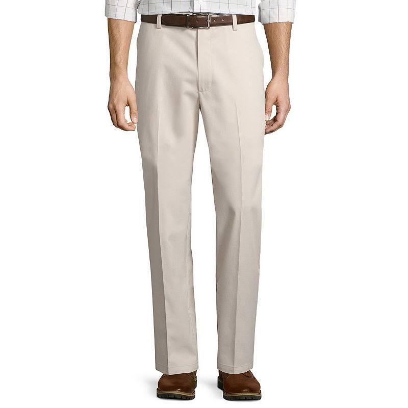D'entretien Bay Devant 34x30 Classique St À Style Pantalon Facile Plat Taille John's Blanc 5PBPqwIxz