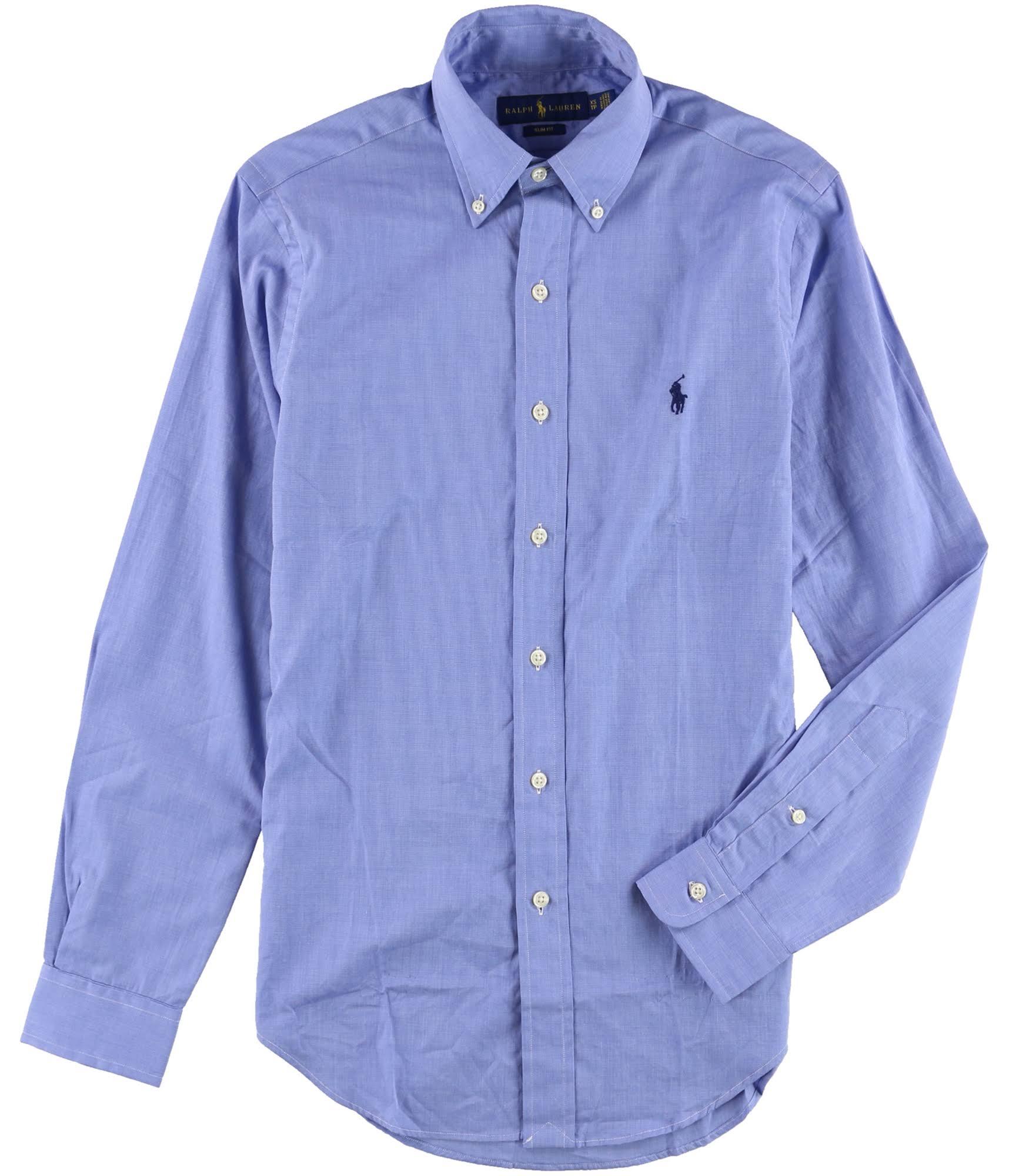 Para Ralph Camisa Básica Lauren Hombre Botones Azul Mbluewht Con wXRqcXzr