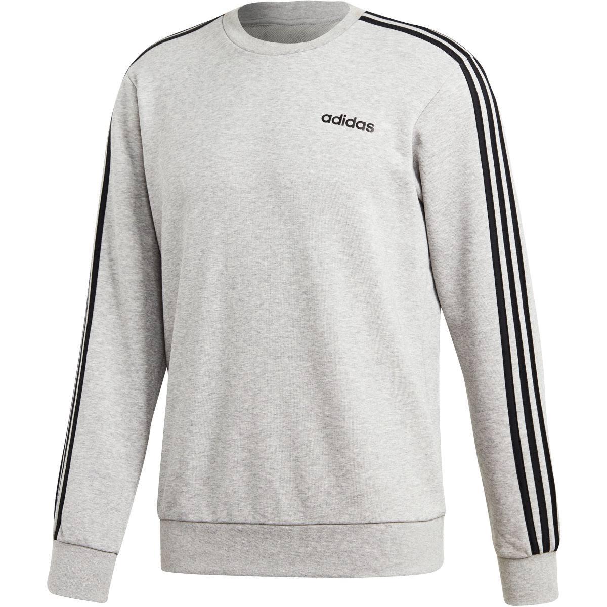 Adidas Essentials 3-Stripes Sweatshirt - Grey - Men
