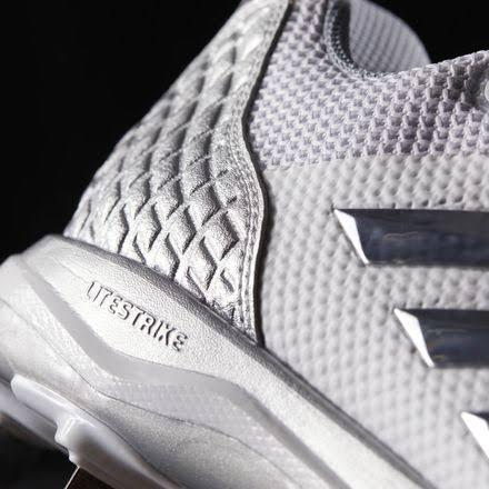 Silber Adidas 5 Größe 8 Metallic B39190 Laufweiß Herren Poweralley silber Baseballschuh qTxA4Fvq