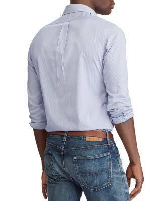 Ralph Camisa S Clásico Algodón Lauren Corte Polo De Hombres Para Azul fOwqadf