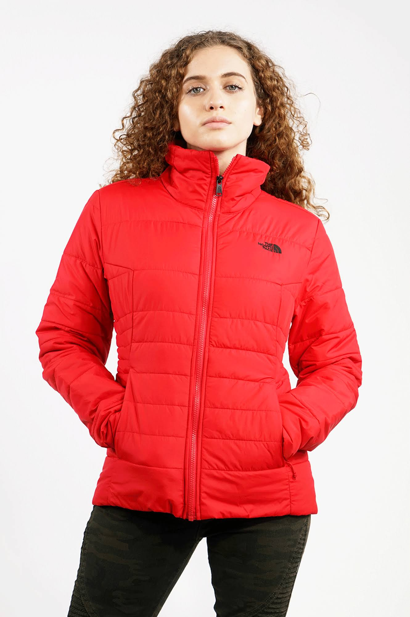 Para Red Nf0a35by Chaqueta North M De The Tnf Rd 682 Mujer Harway Face nOx4pO7
