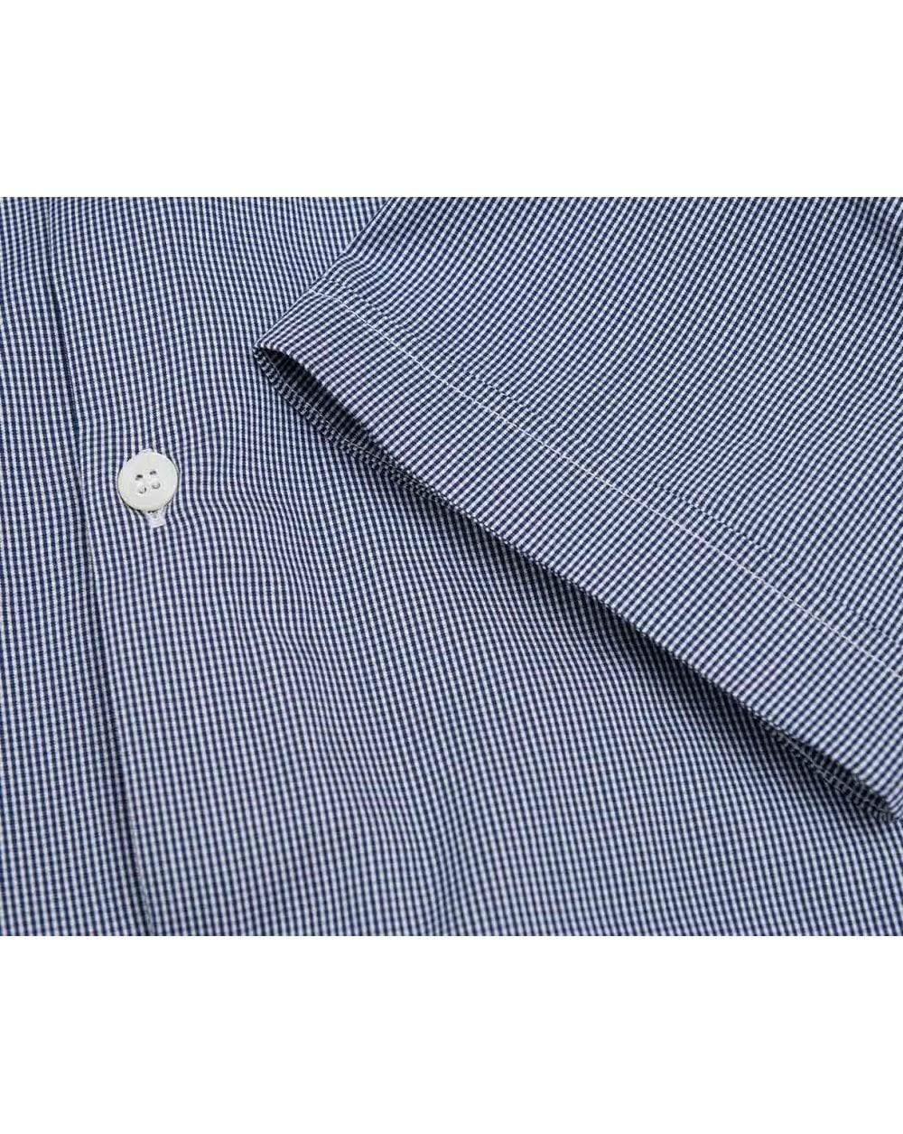L Elástica Guingán Tamaño Azul Color Camisa De Compruebe Armani Marino Manga Corta vx64g