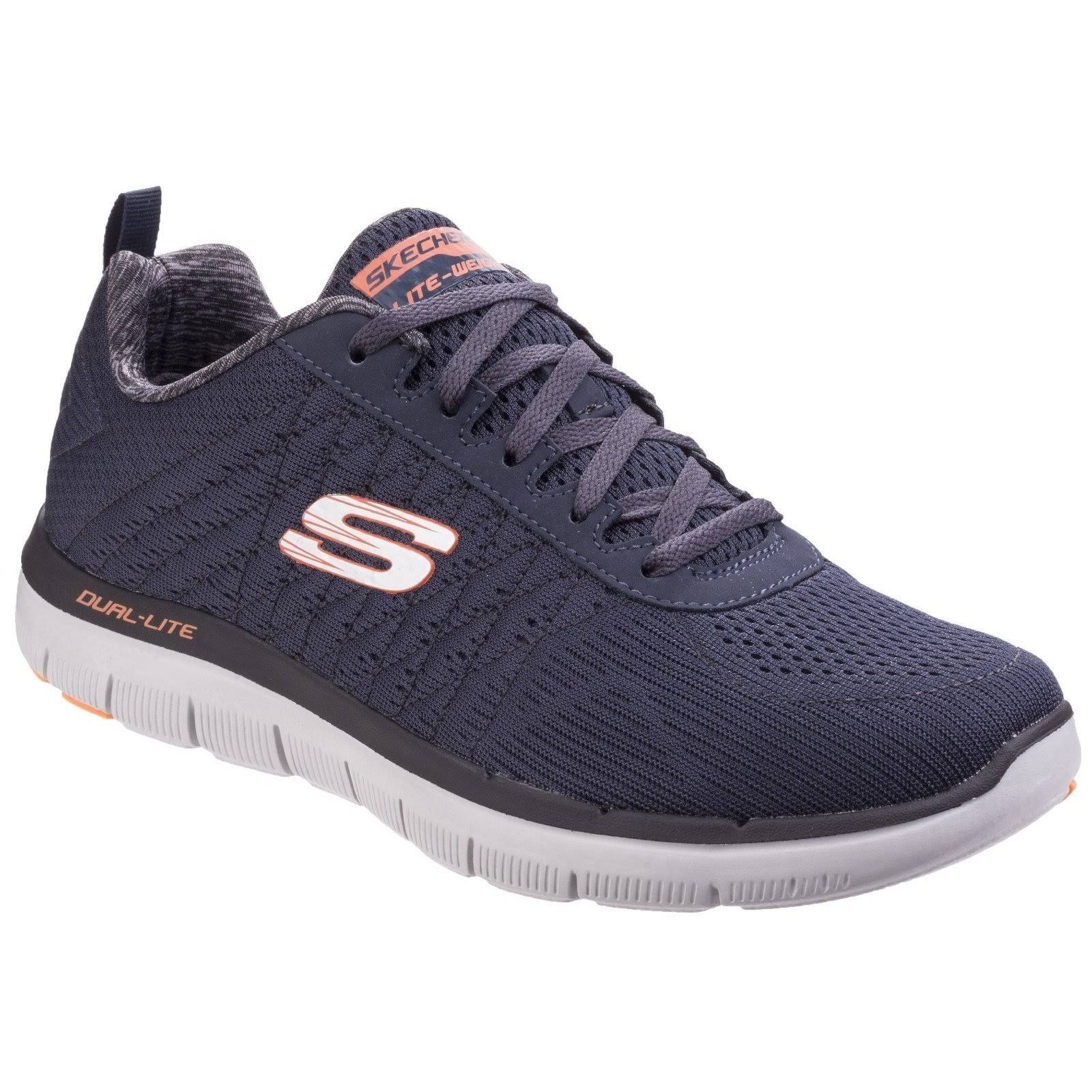 Up Skechers Lace Dark blue Trainer In 52185 Navy ERqxSCRZw