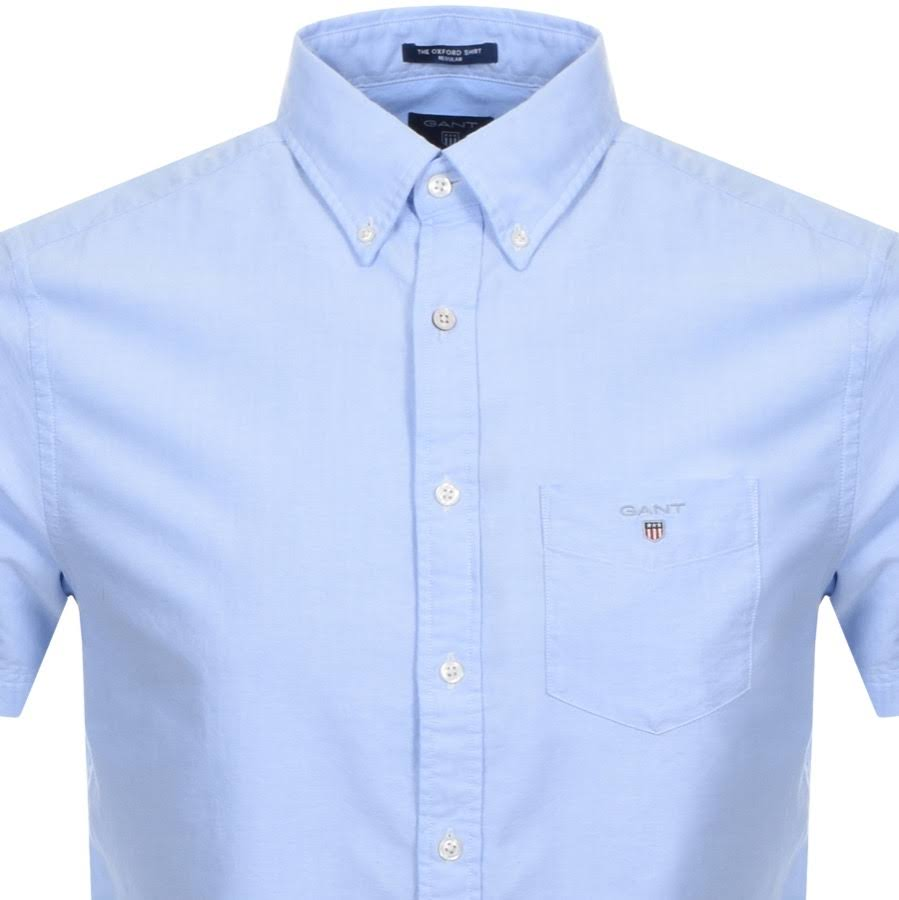 Gant Kurzärmliges shirt Blau Kurzärmliges Gant Oxford Blau shirt Oxford Gant rPArqp
