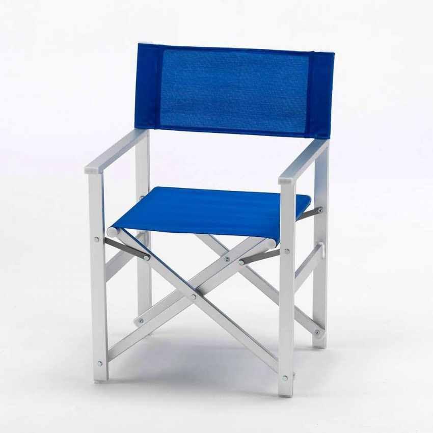 Silla de Director Playa Jardín piscina Aluminio textileno lusso 2 | Google Shopping