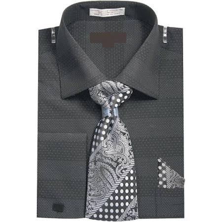 35 5 Schwarz Outlet W Hanky Herren Tie Dress Größe Shirt Dots manschettenknöpfe 34 17 Sunrise Micro 6xT7UwAxq