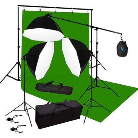 Chromakey Green Screen Lighting Kit