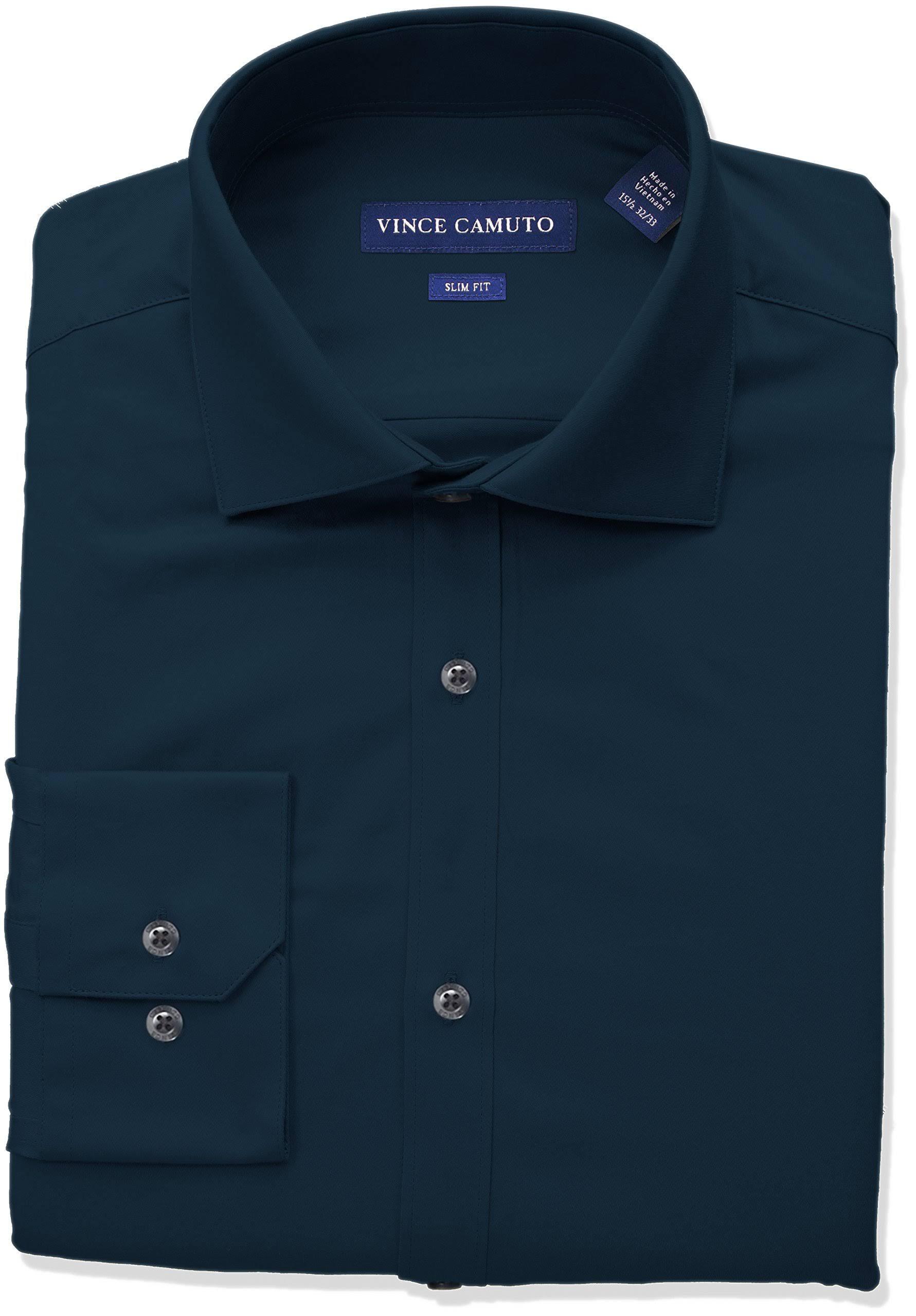 Camisa Ajustado Y Alto Vestir Escote Sólida Vince Hombre Camuto Cuello Para De Con 8rYFx8q