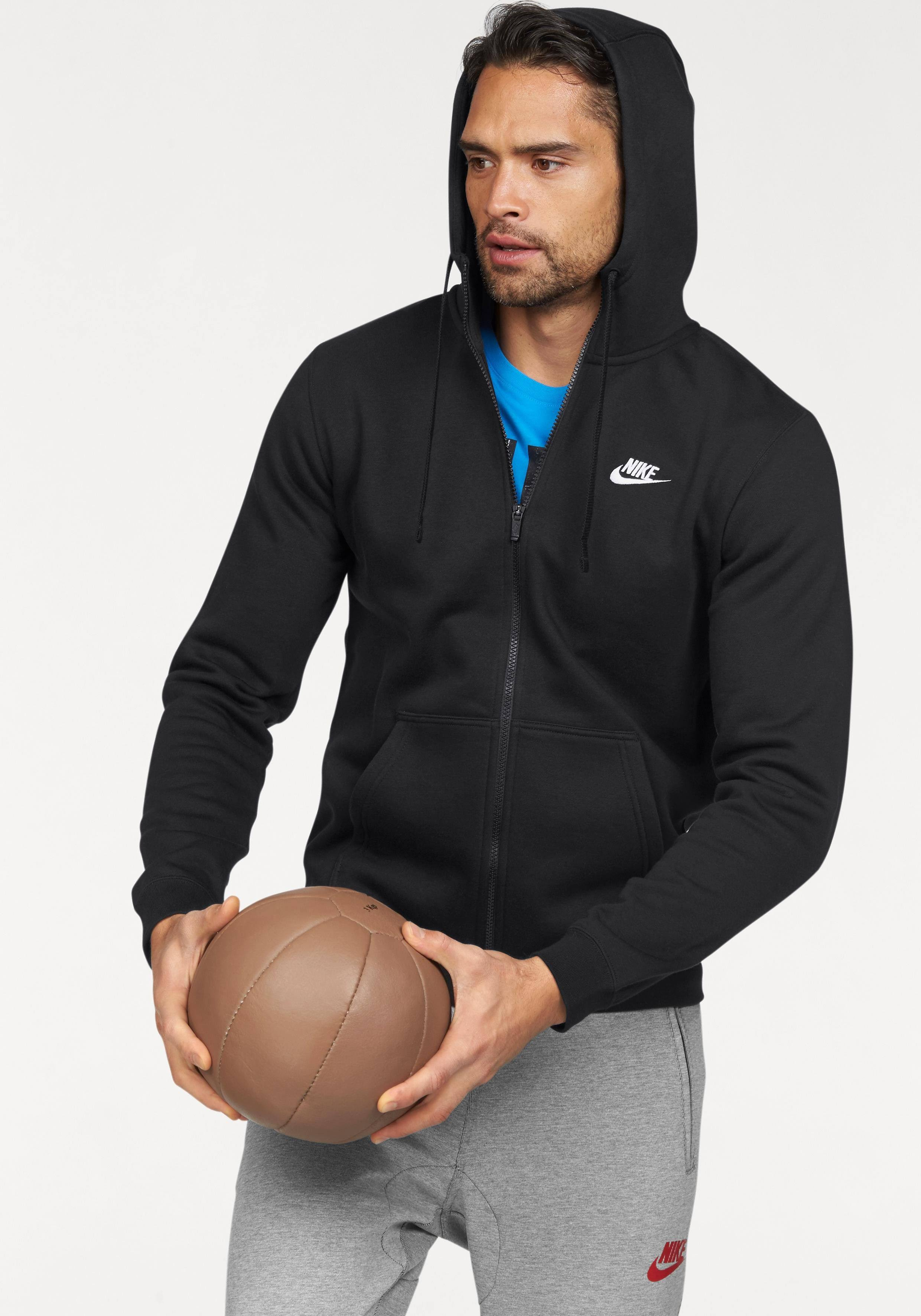 Nike black Fz Sweatshirt Nsw Kapuzen Hoodie Black white Flc Club AABqr4xnw